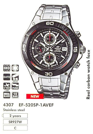 Часы CASIO EF-520SP-1AVEF фото 1